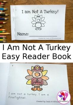 "FREE ""I Am Not a Turkey"" Easy Reader Book"