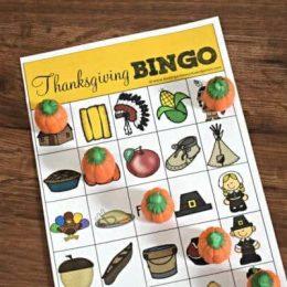FREE Printable Thanksgiving BINGO Sheets