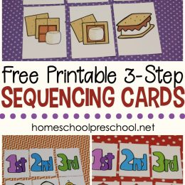 FREE 3 Step Sequencing Cards for Preschoolers