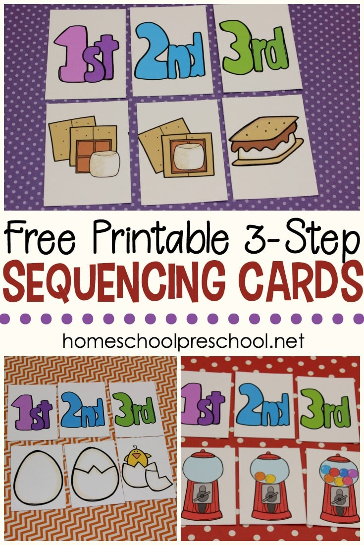 Free 3 Step Sequencing Cards For Preschoolers Free Homeschool Deals C