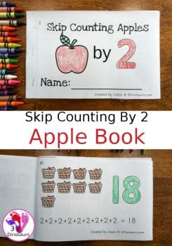 FREE Skip Counting by 2 Apple Book