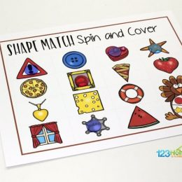 FREE Turkey Spin and Cover Game Boards
