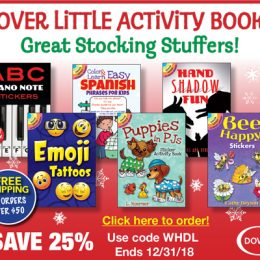 Dover Little Activity Books, Last Chance for Great Stocking Stuffers!