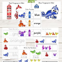 FREE Chameleon Colors Worksheets