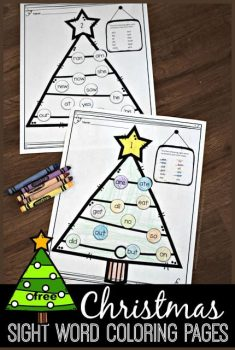 FREE Christmas Sight Words Coloring Sheets