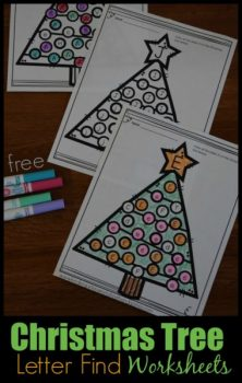 FREE Christmas Tree Letter Find