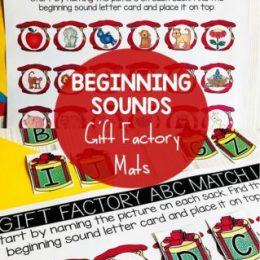 FREE Christmas Beginning Sounds Matching Mats