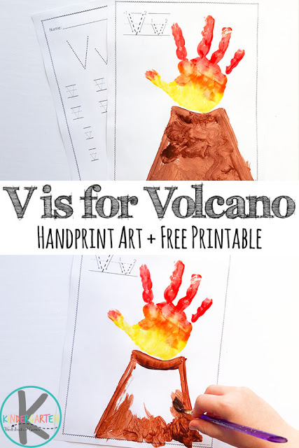 image relating to Volcano Printable named Free of charge V is for Volcano Hand Artwork Printable Cost-free Homeschool