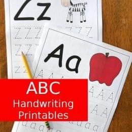 FREE Easy to Use ABC Handwriting Printables