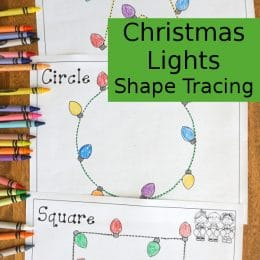 FREE Christmas Lights Shape Tracing Sheets