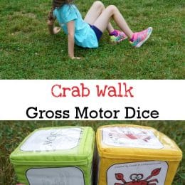 FREE Crab Walk Gross Motor Dice