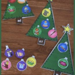 FREE Word Family Christmas Trees