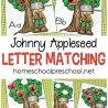 FREE Johnny Appleseed Letter Matching Game