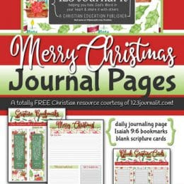 FREE Merry Christmas Journal Pages