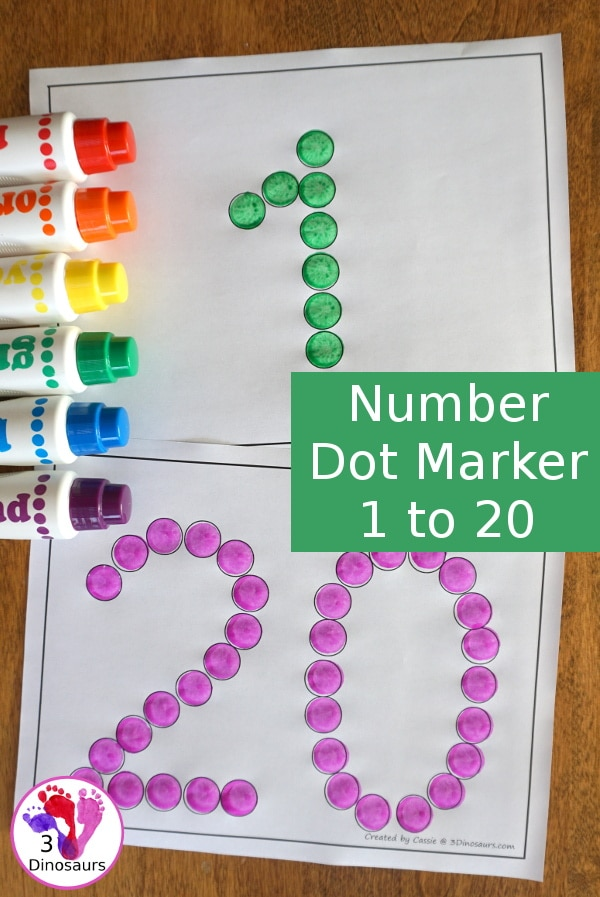 FREE Number Dot Marker Printables: 1 to 20   Free ...