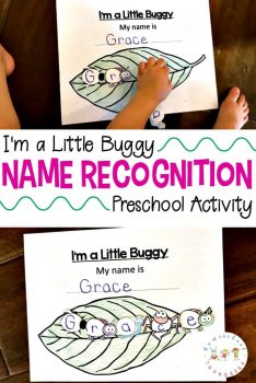 FREE I'm a Little Buggy Name Recognition Activity