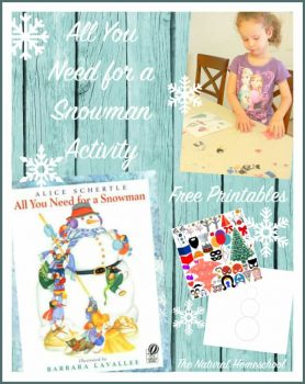 FREE All You Need for a Snowman Activity Printables