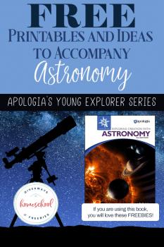 FREE Apologia's Astronomy Book Printables