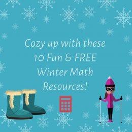 10 Fun & FREE Winter Math Resources!