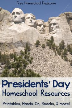 Presidents Day Resources and Printables for Your Homeschool