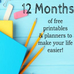 12 Months of FREE Planners & Printables!