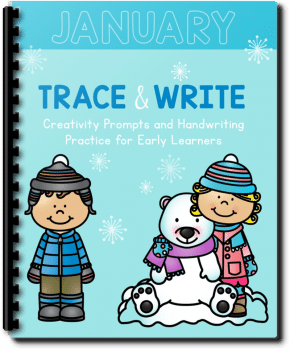 FREE Creative Writing Prompts and Tracing Work (Only in Jan.!)