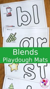 FREE Blends Playdough Mats