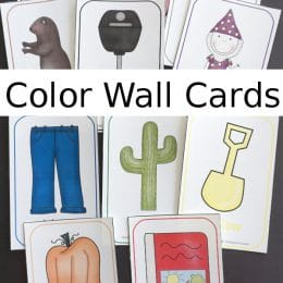 FREE Color-Themed Wall Cards