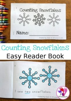 FREE Counting Snowflakes Easy Reader