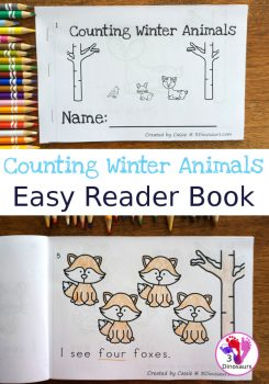 FREE Counting Winter Animals Easy Reader