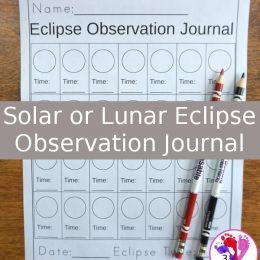 FREE Solar or Lunar Eclipse Observation Journal