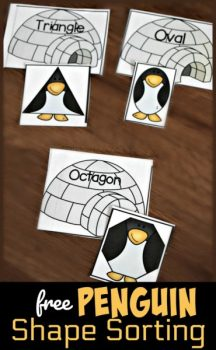 FREE Penguin Shape Sorting Activity