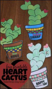 FREE Printable Cactus Heart Craft