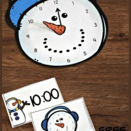 FREE Snowman Telling Time Activity