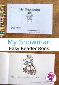 FREE My Snowman Easy Reader