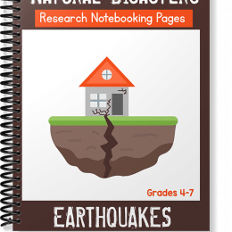 FREE Natural Disasters Notebooking Pages: Earthquakes