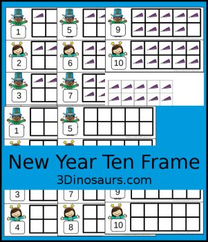 FREE New Year's-Themed Ten Frame Cards