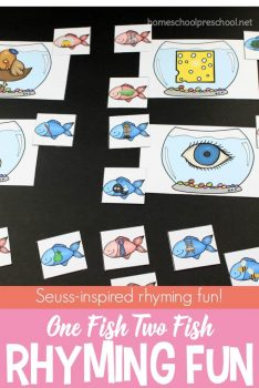 FREE One Fish Two Fish Rhyming Activity
