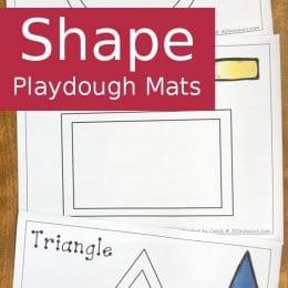 FREE Shape Playdough Mats (12-pages!)