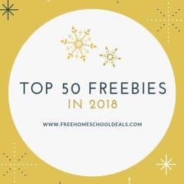 Top 50 Free Homeschool Deals Posts of 2018!