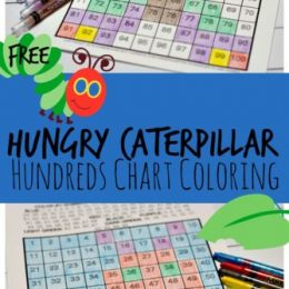 FREE Very Hungry Caterpillar Hundreds Chart Activity
