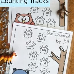 FREE Winter Woodland Skip Counting Tracks
