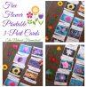 FREE Printable Flower 3-Part Cards