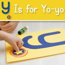 FREE Y is for Yo-yo Craft