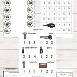 FREE Construction-Themed Printable Pack