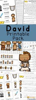 FREE Book of David Printable Pack