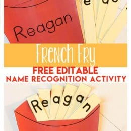 FREE French Fry Name Recognition Activity