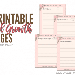 FREE Personal Growth Pages (only until 2/22/19!)