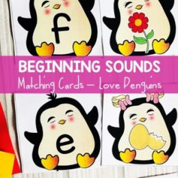 FREE Penguin Beginning Sounds Matching Cards