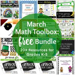 Bundle of FREE March Math Printables (20+ Resources!)